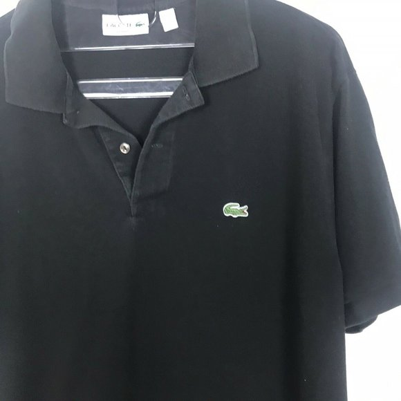 Lacoste Black Polo Shirt XL Mens Classic Fit